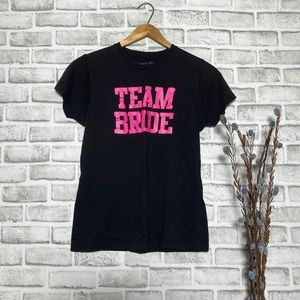 """4/$25 Spencer's Spell our """"Team Bride""""Graphic Tee"""